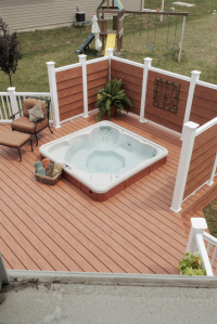 Deck and hot tub